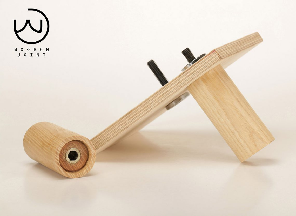 wood joint by metal for modular furniture